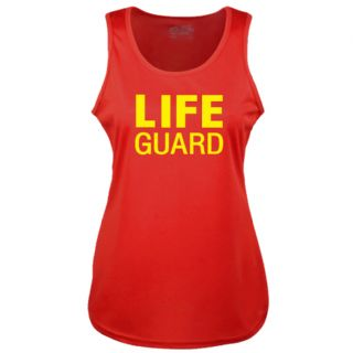 LADIES LIFE GUARD RED COOLTEX VEST